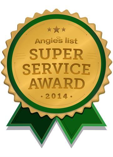 2014 Super Service Award Wnner