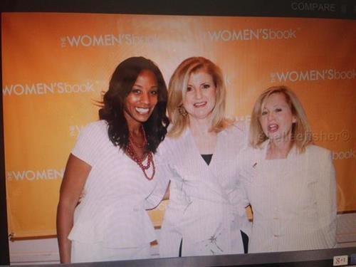 Meeting Arianna Huffington with TaKeysha Cheney