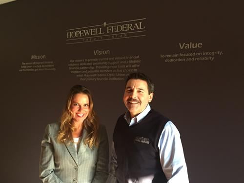 Leslie Biskner and Jim Johnson with Hopewell Federal Credit Union