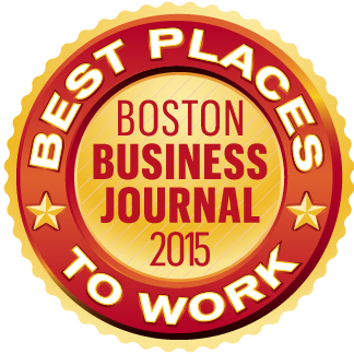 Recognized by the Boston Business Journal as one of the Best Places to work for 2015.