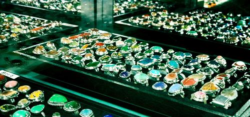 Handmade stone rings
