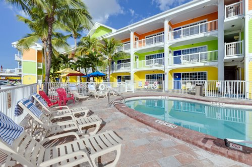Our beachfront heated outdoor pool is a nice escape from sandy toes!