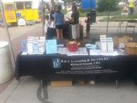 Business Expo Table at the Block Party