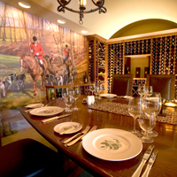 The wine cellar dining room at Goodstone
