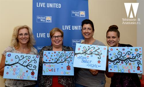 Members of our team enjoyed an evening of painting in support of the United Ways efforts to provide permanent housing for the homeless.