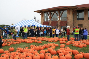 Oak Bank's Annual Great Pumpkin Give Away benefiting various charities.