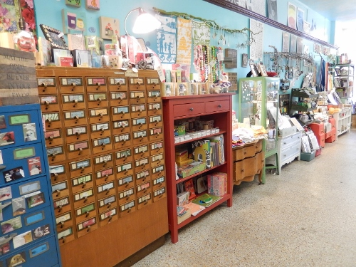 card catalog filled with crafty goodness