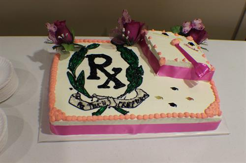 Cake at the first graduation ceremony