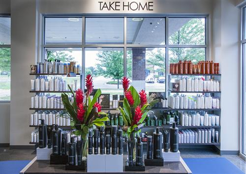 Being a Paul Mitchell School has definite perks. Check out our Take Home shelves.