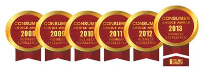 Consumer Choice Award winners for 6 consecutive years