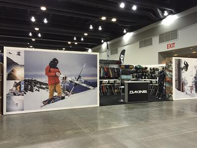 Custom trade show booth rental and vinyl wrap graphics