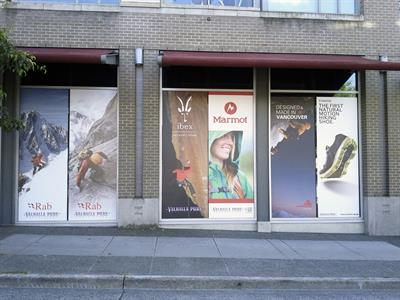 Retail Window Graphics - removable for seasonal changes