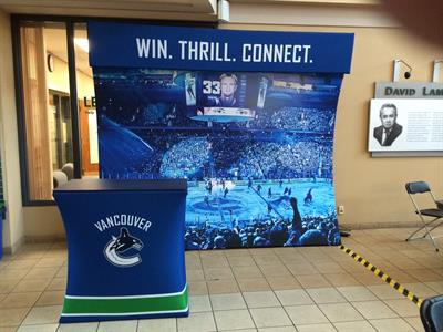 Canucks Sports & Entertainment - tension fabric exhibit (10x10 and 10x20 with counter)