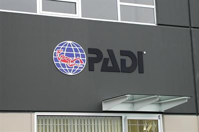 3D sign, exterior (Plexiglas with vinyl decal)