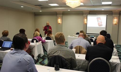 Nov. 2015 Mind Your Marketing Seminar at Holiday Inn Express Springfield