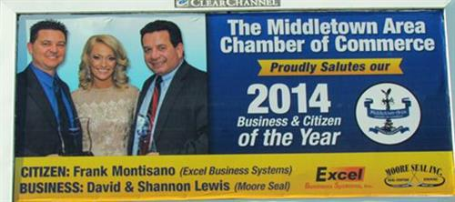 Congrats to the 2014 MACC Business of the Year - MooreSeal & Citizen of the Year - Frank Montisano