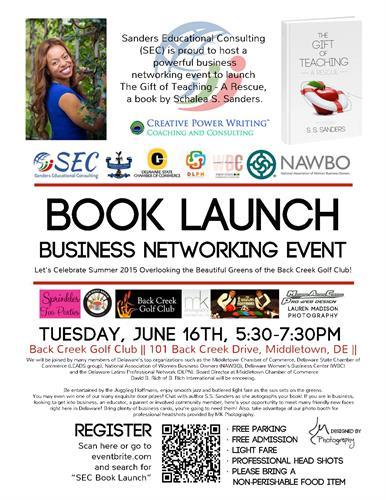 SEC Book Launch / DE Business Networking Event Back Creek Golf Club June 16, 2015