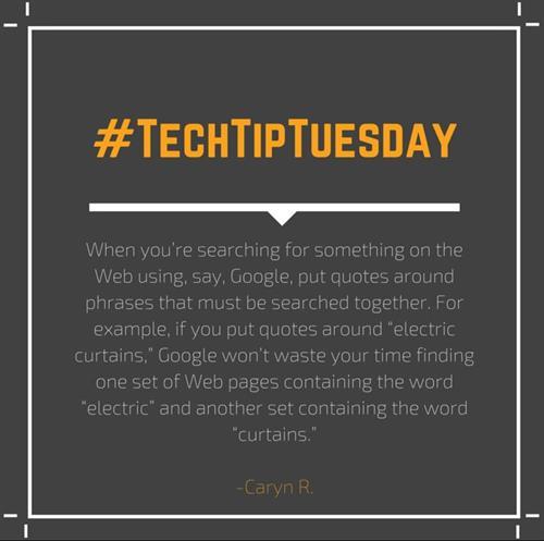 #TechTipTuesday