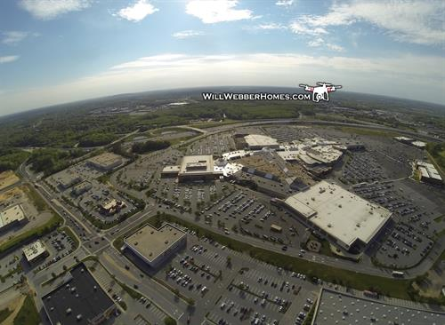 Chrisitana Mall --- Established areas, Drone view.