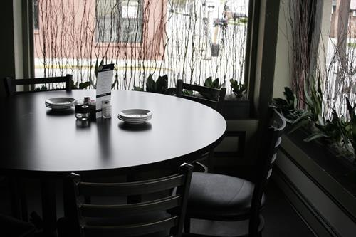 One of our other favorite tables to enjoy a great meal with friends and family!