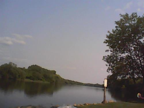 Aview of Mississippi River from boat landing. 7-2-2015