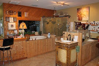 """Another picture of the """"bathroom side"""" of the showroom."""