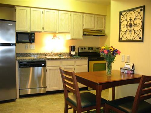 All suites feature full kitchens with refrigerator/freezers, microwave, dishwasher, stove/oven.