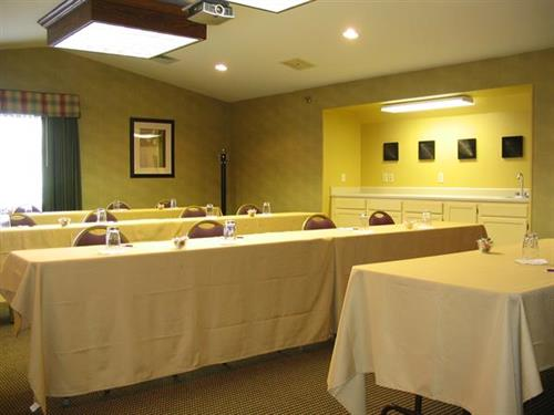 Meeting rooms are available.