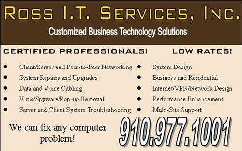 Ross I.T. Services ad