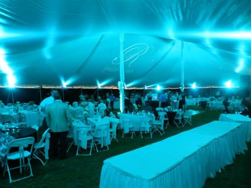 Lighting and Monograms - Tent