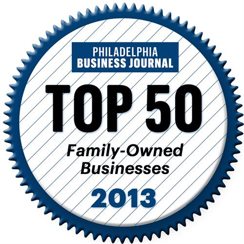 Voted Top 50 Family-Owned Businesses in 2013 by the Philadelphia Business Journal