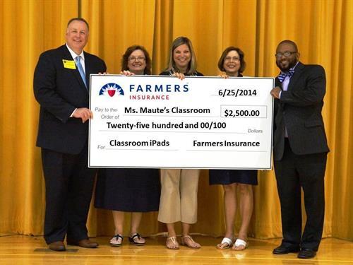 Presentation of a local Thank A Million Teachers Award