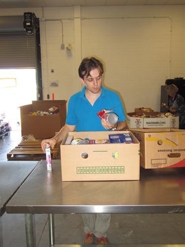 2015 Loaned Executive volunteering at Food Bank of SJ