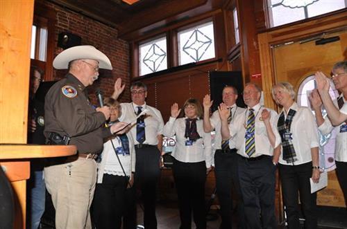 Former Lander Rotary president deputizes our Scottish visitors