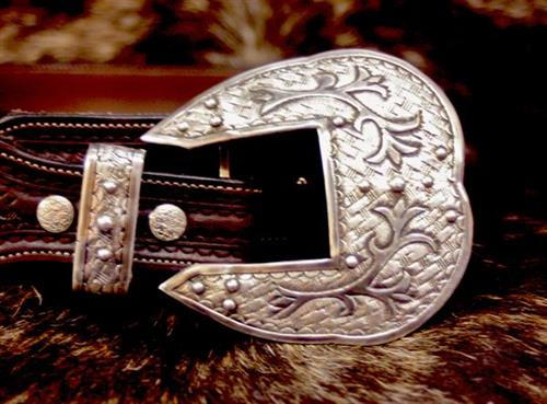 Solid Silver Belt Buckle