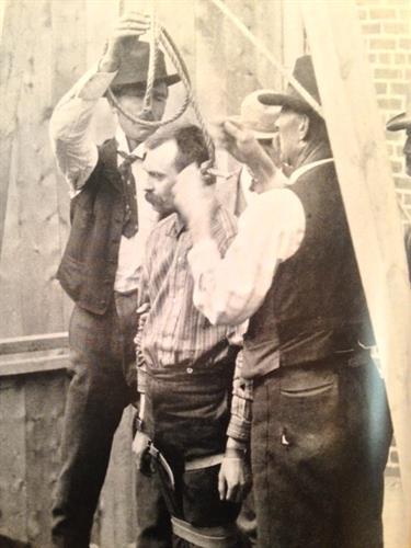 James Keller, first man hanged in Fremont County.