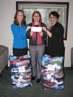 Donating $3,500 to the American Cancer Society