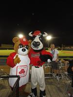 The Good Neighbear and Tipper enjoying the game