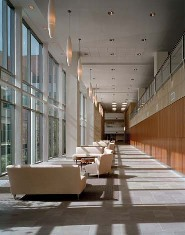 Seating area, located on the first floor of the Outpatient Pavilion, near the Imaging Center.