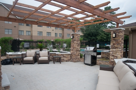 Outdoor patio and BBQ area
