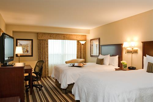 Hampton Inn Boston-Natick Double Double Bed Guest Room