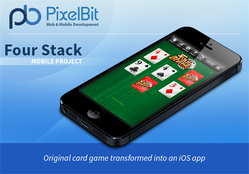 The Four Stack card game is an original Solitaire card game turned into an app. The final product was deployed on Android, iOS and Facebook.