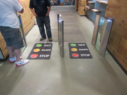 Temporary Floor Graphics w/OSHA non-skid surface