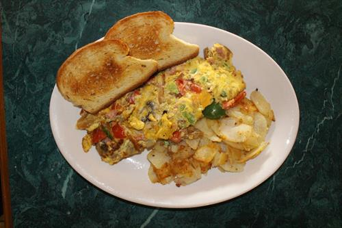 Jessi's Omelet with Mamma's Toast
