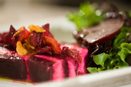 Local Beet and Goat Cheese Terrine