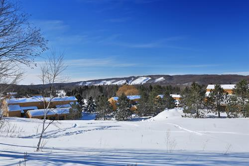View from Trout Creek to Boyne Highlands