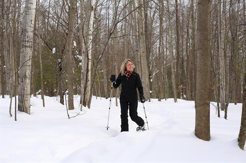 Snowshoe on our trails