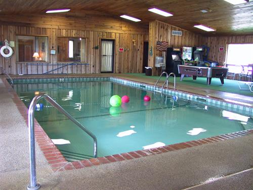 Resort pool in Northern Minnesota.