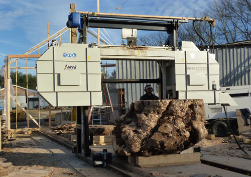 "We have a Woodmizer 1000 bandsaw mill that can saw up to 70"" wide and 20' long."