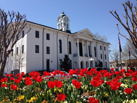 Spring time at the Lafayette County Courthouse
